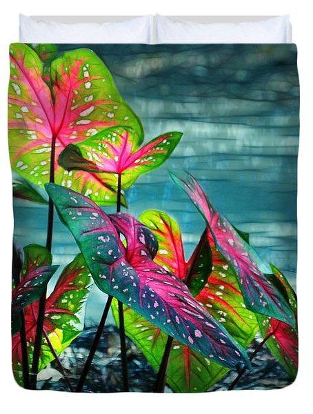 Calladiums Duvet Cover by Judi Bagwell