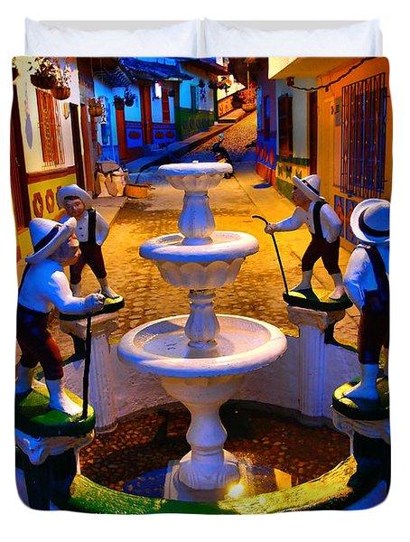 Calle Del Recuerdo Duvet Cover by Skip Hunt