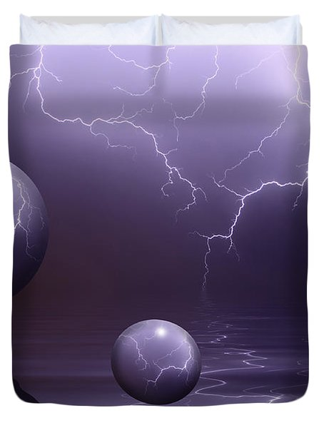 Calm Before The Storm Duvet Cover by Shane Bechler