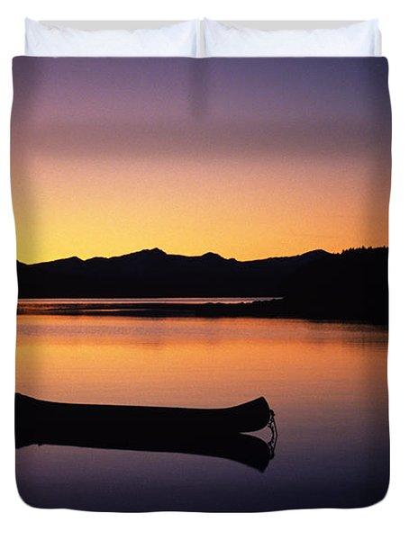 Calming Canoe Duvet Cover by John Hyde - Printscapes