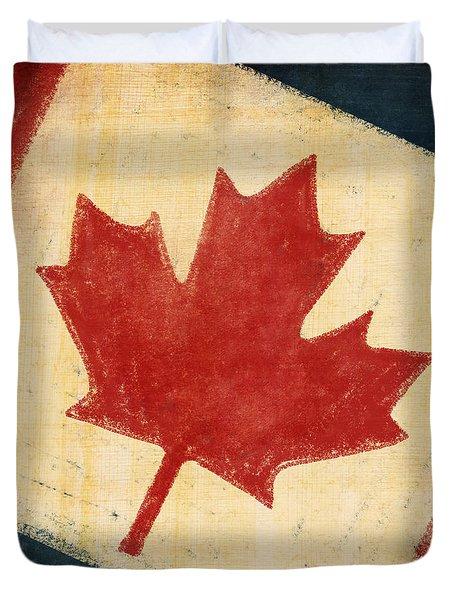 Canada Flag Duvet Cover by Setsiri Silapasuwanchai