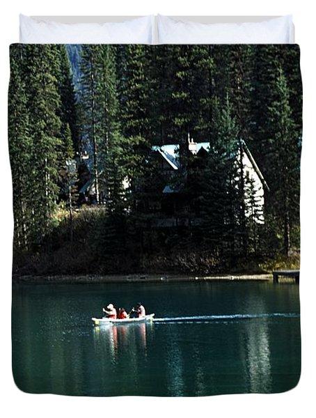 Canadian Rockies Duvet Cover by John Doornkamp