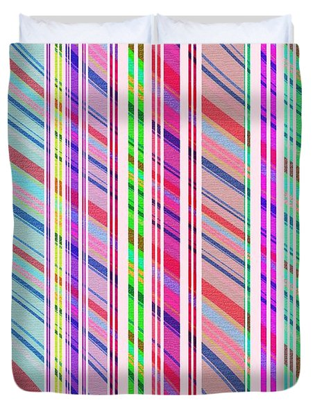 Candy Stripe Duvet Cover by Louisa Knight