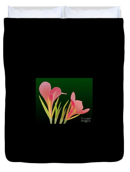 Canna Lilly Whimsy Duvet Cover by Rand Herron