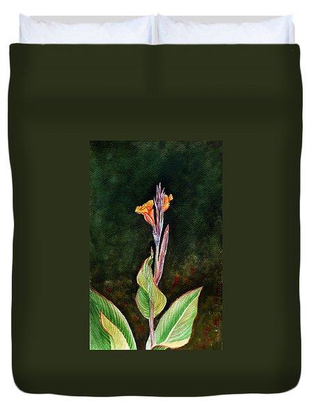 Canna Lily Duvet Cover by Irina Sztukowski