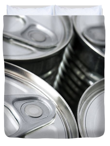 Canned food Duvet Cover by Carlos Caetano