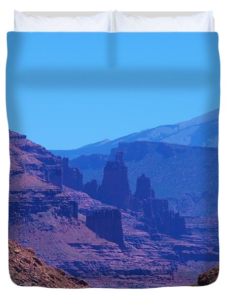 Canyon Colors Duvet Cover by Dany  Lison