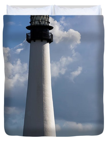 Cape Florida Lighthouse Duvet Cover by Ed Gleichman