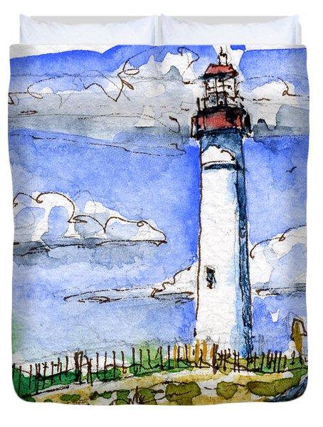 Cape May Lighthouse Study Duvet Cover by John D Benson