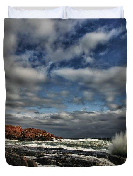 Cape Neddick Lighthouse Duvet Cover by Rick Berk