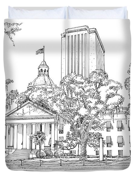 Capitol 2002 Tallahassee Duvet Cover by Audrey Peaty