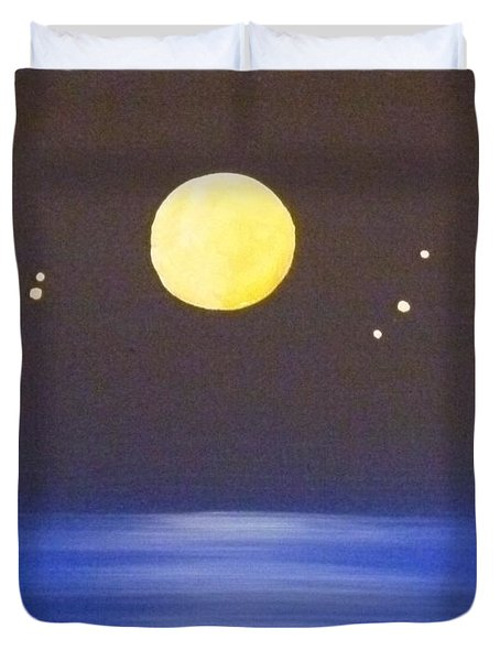 Capricorn and Libra Duvet Cover by Alys Caviness-Gober