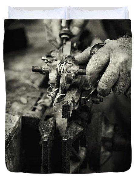 Carpenter L Duvet Cover by Rob Travis
