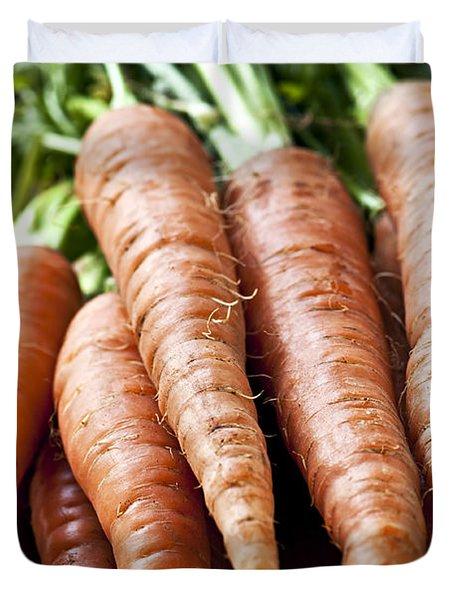 Carrots Duvet Cover by Elena Elisseeva