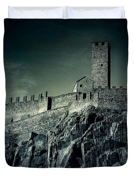 Castelgrande Bellinzona Duvet Cover by Joana Kruse
