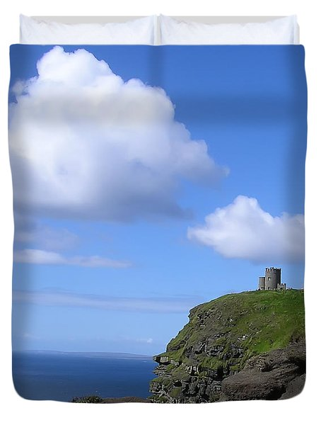 Castle On The Cliffs Of Moher Duvet Cover by Bill Cannon