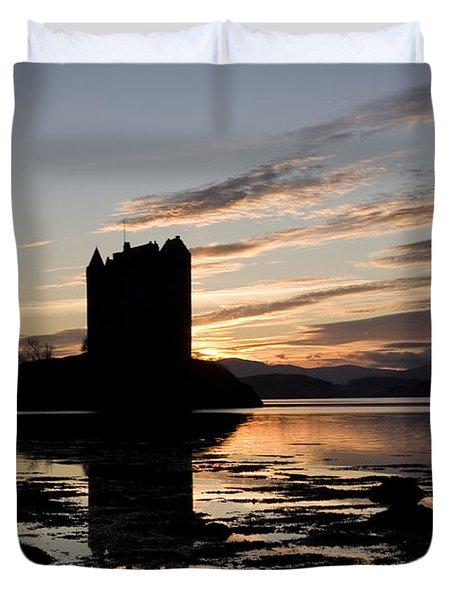Castle Stalker Duvet Cover by Pat Speirs