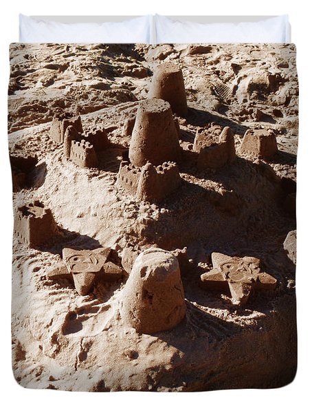 Castles Made Of Sand Duvet Cover by Xueling Zou