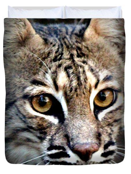 Cat Fever Duvet Cover by Kathy  White