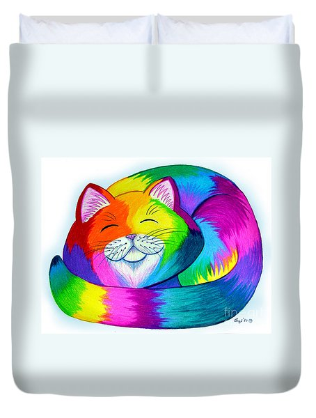 Cat Napping Duvet Cover by Nick Gustafson