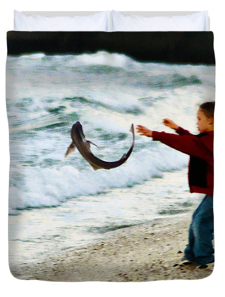 Catch and Release Duvet Cover by Bill Cannon