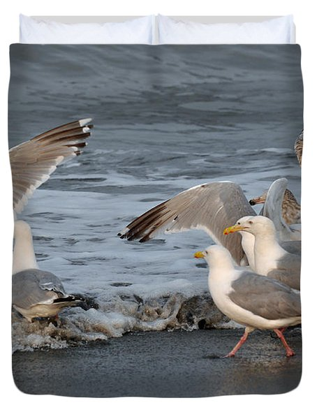 Catch Me If You Can  Duvet Cover by Debra  Miller