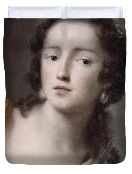 Caterina Sagredo Barbarigo As 'bernice' Duvet Cover by Rosalba Giovanna Carriera
