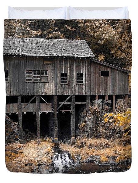 Cedar Creek Grist Mill Duvet Cover by Steve McKinzie