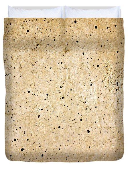 Cement Wall Duvet Cover by Carlos Caetano