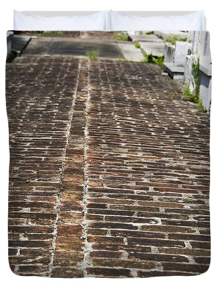 Cemetary Path Duvet Cover by Ray Laskowitz