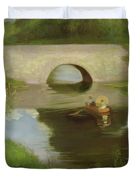 Central Park Duvet Cover by George Luks