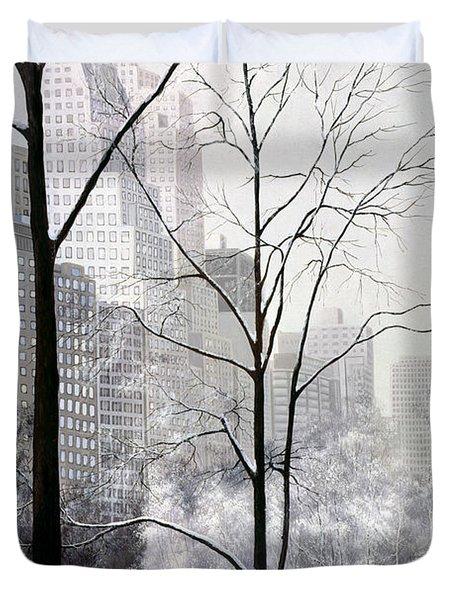Central Park Vertical Duvet Cover by Diane Romanello