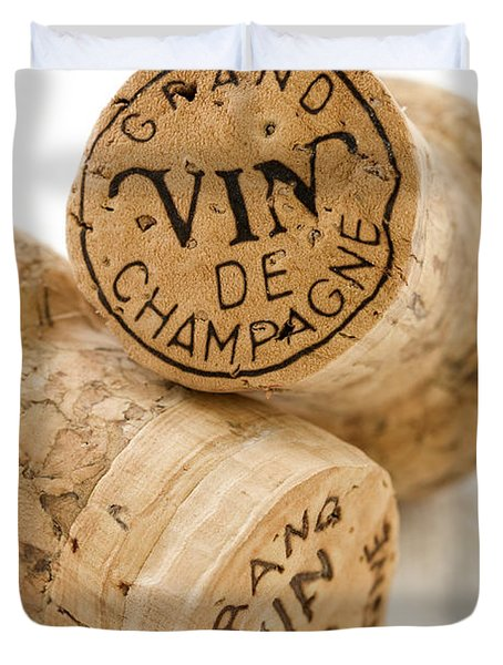 Champagne corks Duvet Cover by Frank Tschakert
