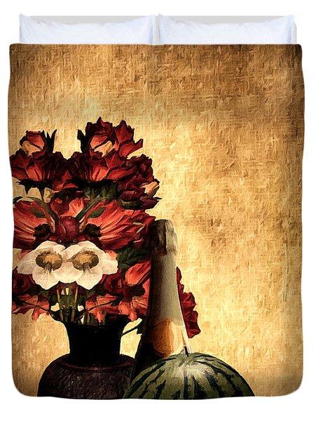 Champagne Supernova Duvet Cover by Lourry Legarde