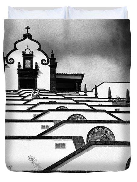 Chapel In Azores Duvet Cover by Gaspar Avila