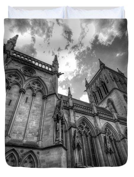 Chapel Of St. John's College - Cambridge Duvet Cover by Yhun Suarez
