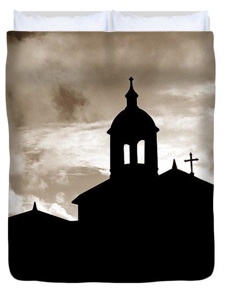Chapel Silhouette Duvet Cover by Gaspar Avila