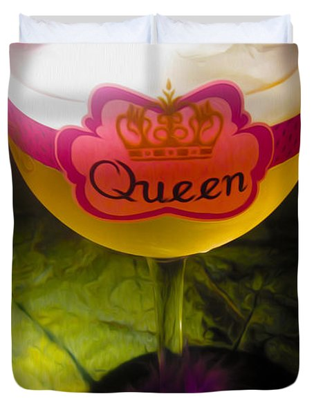 Chardonnay Queen Duvet Cover by Cheryl Young