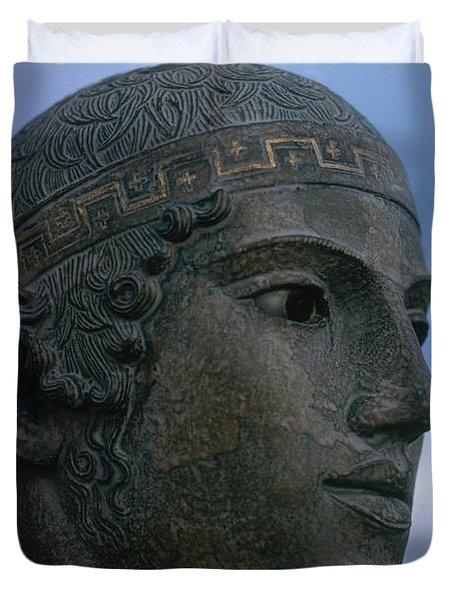 Charioteer Of Delphi Duvet Cover by Photo Researchers