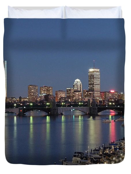 Charles River Yacht Club Duvet Cover by Juergen Roth