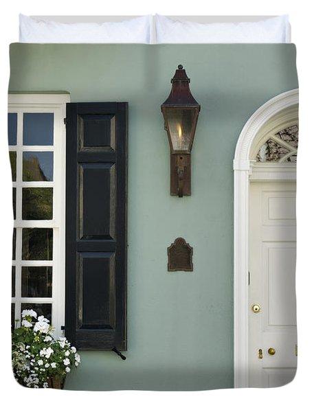 Charleston Doorway - D006767 Duvet Cover by Daniel Dempster