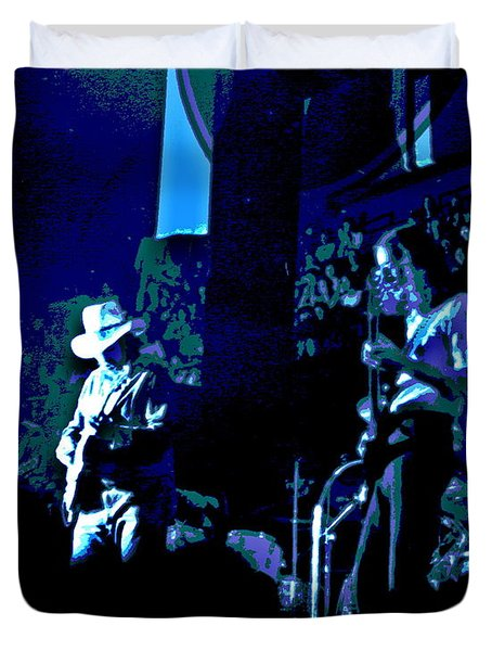 Charlie Daniels Winterland Blues 1975 Duvet Cover by Ben Upham