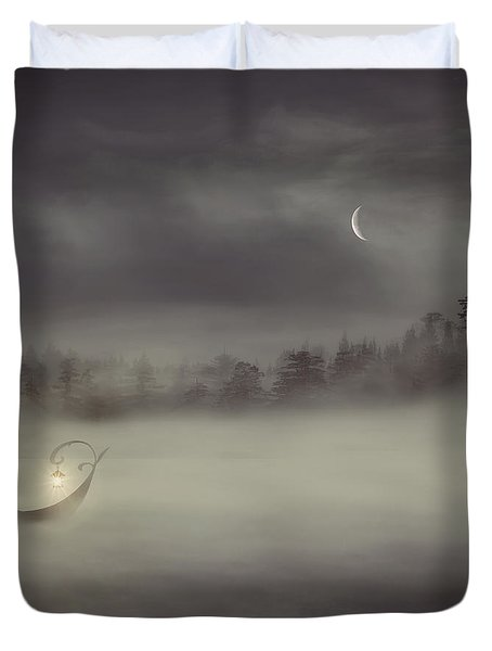 Charon's Boat Duvet Cover by Lourry Legarde
