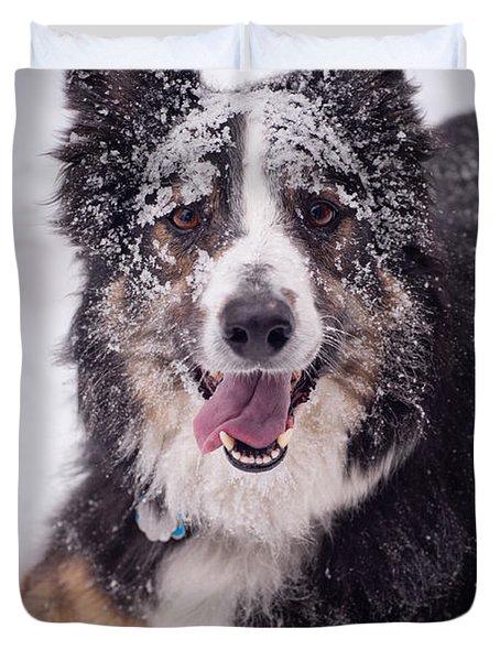 Chasing the Snow Duvet Cover by Joye Ardyn Durham
