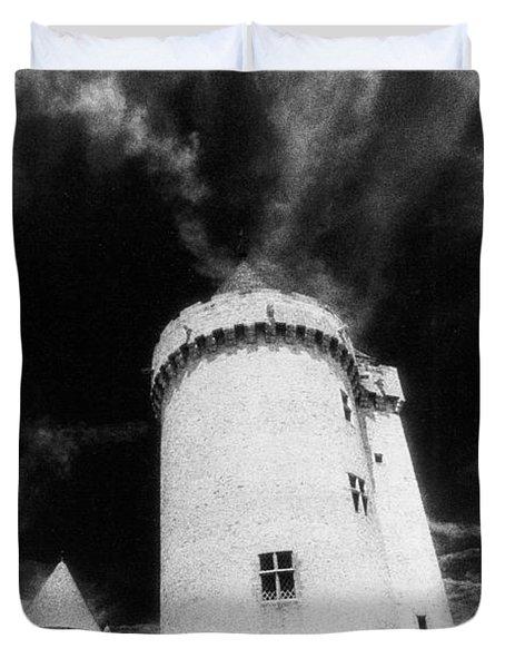Chateau De Blandy Les Tours Duvet Cover by Simon Marsden