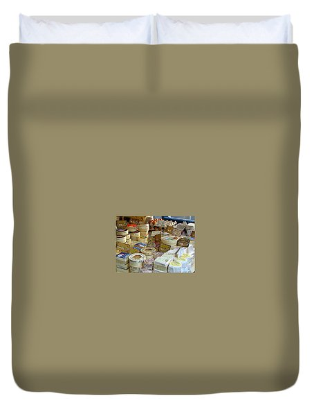 Cheese For Sale Duvet Cover by Carla Parris