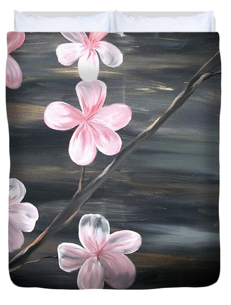 Cherry Blossom By Mark Moore Duvet Cover by Mark Moore