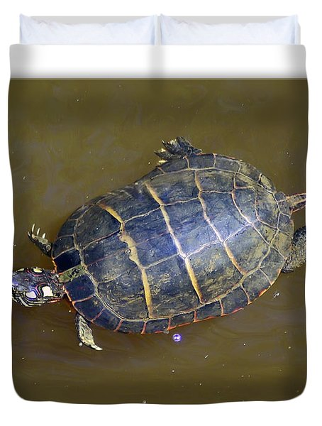 Chester River Turtle Duvet Cover by Brian Wallace