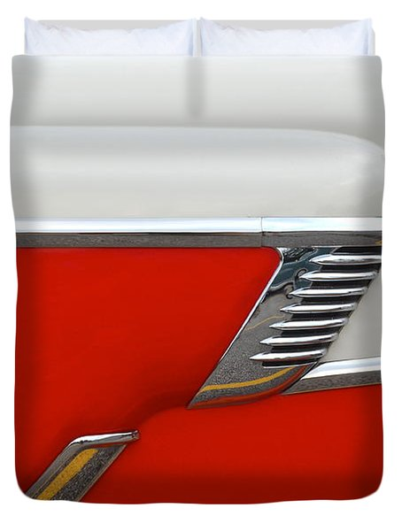 Chevy Door Duvet Cover by Frozen in Time Fine Art Photography