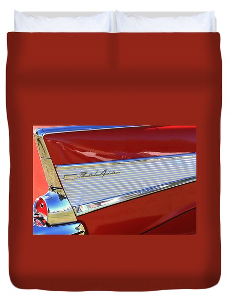 Chevy Lines Duvet Cover by Dorothy Menera